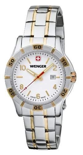 Wenger Damen-Armbanduhr XS Platoon Analog Quarz Edelstahl beschichtet 019211105