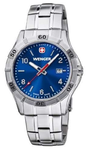 Wenger Herren-Armbanduhr XL Platoon Analog Quarz Edelstahl 019411104