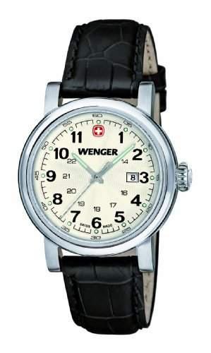 Wenger Damen-Armbanduhr XS Urban Classic Analog Quarz Leder 011021102