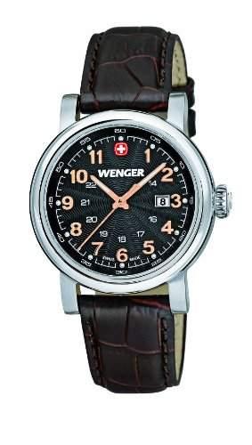 Wenger Damen-Armbanduhr XS Urban Classic Analog Quarz Leder 011021104