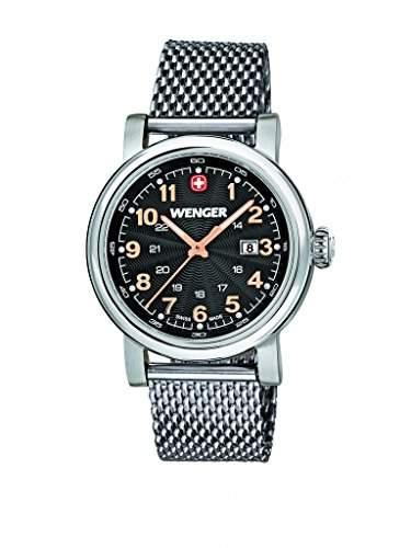 Wenger Damen-Armbanduhr XS Urban Classic Analog Quarz Edelstahl 011021106