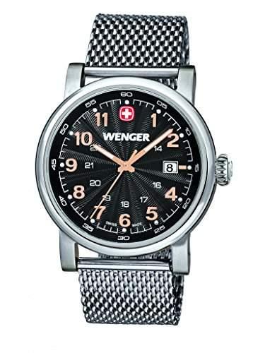 Wenger Herren-Armbanduhr XL Urban Classic Analog Quarz Edelstahl 011041106
