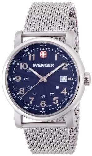 Wenger Herren-Armbanduhr XL Urban Classic Analog Quarz Edelstahl 011041107