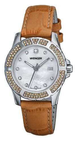 Wenger Herren-Armbanduhr Analog Leder gelb 70312