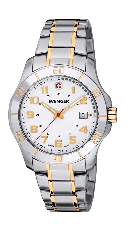 Wenger Herren-Armbanduhr Alpine Analog Quarz Edelstahl 70477