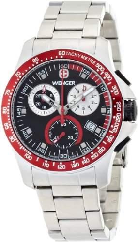 Wenger Herren-Armbanduhr Analog Edelstahl Silber 70784
