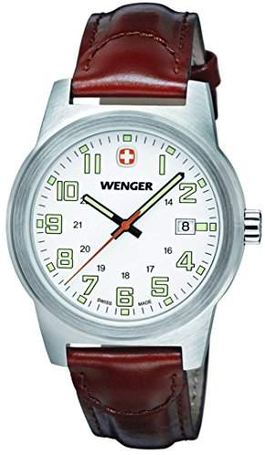 Wenger Herren-Armbanduhr XL Field Classic Analog Quarz Leder 72801W