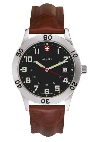 Wenger Herren-Armbanduhr Analog Edelstahl schwarz 72965W