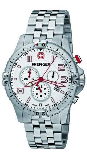 Wenger Herren-Armbanduhr XL Squadron Chronograph Quarz Edelstahl 77059