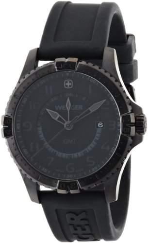 Wenger Herren-Armbanduhr XL Squadron GMT Analog Quarz Silikon 77074
