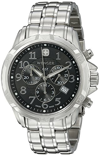 GST Chronograph Black Dial with Leather Strap