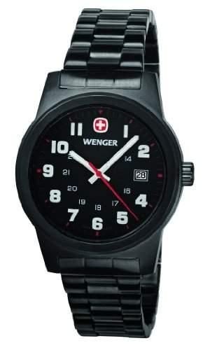 Wenger Herren-Armbanduhr XL Field Classic Analog Quarz Edelstahl beschichtet 010441102