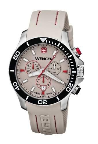 Wenger Herren-Armbanduhr XL Seaforce Chronograph Quarz Silikon 010643105