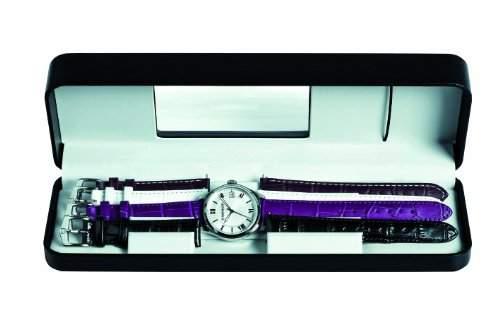 Wenger Damen-Armbanduhr XS Terragraph Set Analog Quarz Leder 600521103