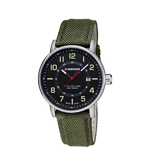 WENGER Unisex Armbanduhr Chronograph Quarz verschiedene Materialien 01 0341 107