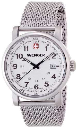 Wenger Herren-Armbanduhr XL Urban Classic Analog Quarz Edelstahl 011041103