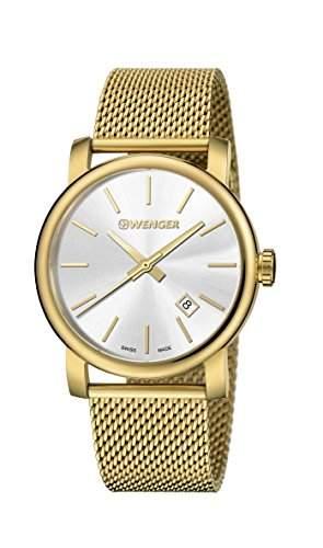 WENGER Herren - Armbanduhr Analog Quarz Edelstahl URBAN CLASSIC VINTAGE 011041120