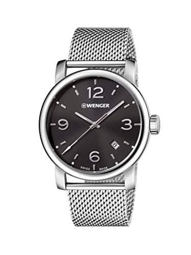 WENGER Herren - Armbanduhr Analog Quarz Edelstahl URBAN METROPOLITAN 011041124