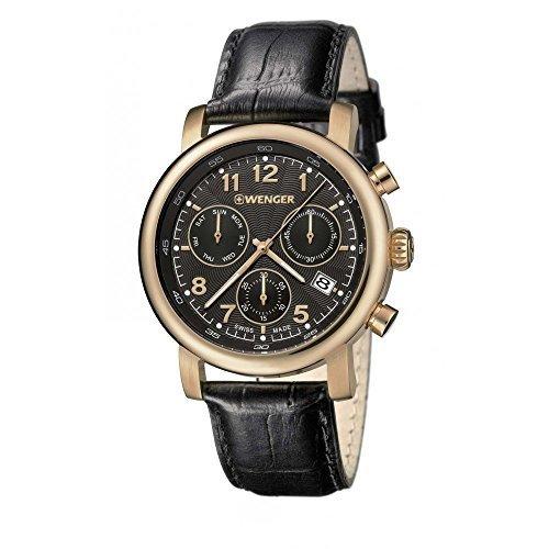 Wenger 01 1043 107 Urban Classic Chrono Lederband Band Black Watch