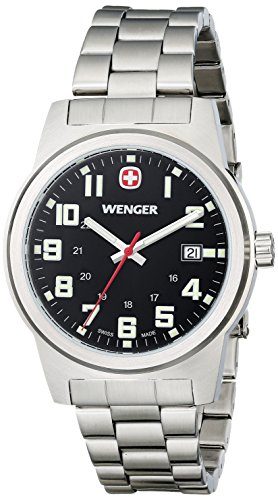 Wenger 72806 Herren Analog Display Swiss Quartz Silber Uhr