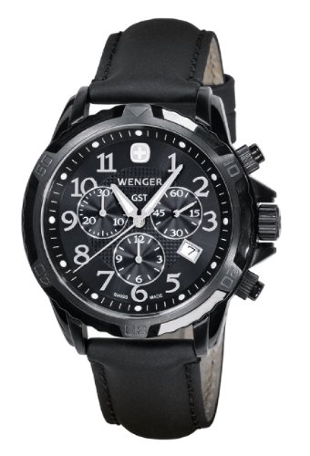 Wenger 78254 Mens Black Out GST Chronograph Swiss Made Watch
