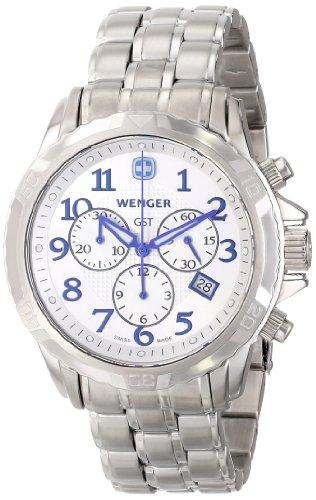 Wenger Herren 78259 GST Chrono Silver Dial Stahl Armbanduhr