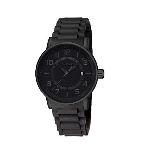WENGER Unisex Armbanduhr Analog Quarz Edelstahl 01 0341 112
