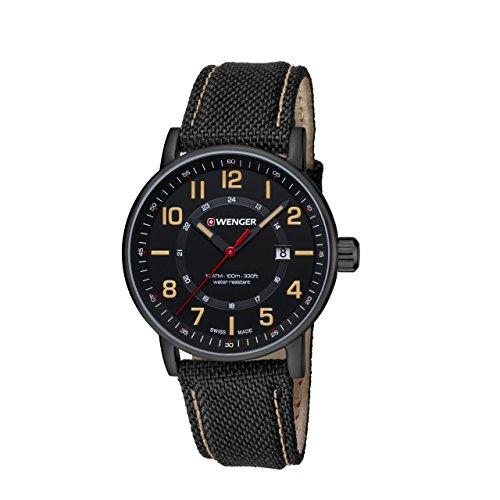 WENGER Unisex Armbanduhr Analog Quarz Leder 01 0341 110