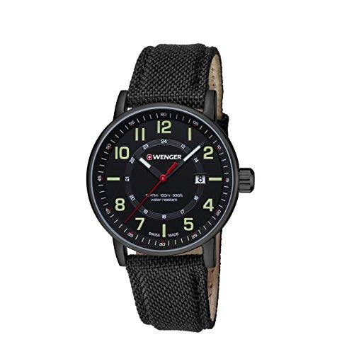 WENGER Unisex Armbanduhr Analog Quarz Leder 01 0341 111