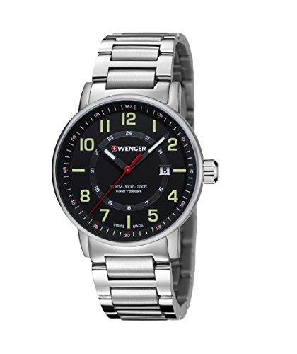 WENGER Unisex Armbanduhr Chronograph Quarz Edelstahl 01 0343 104