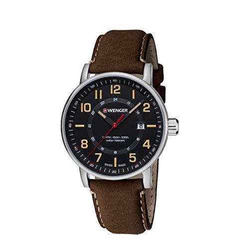 WENGER Unisex Armbanduhr Chronograph Quarz Leder 01 0341 108