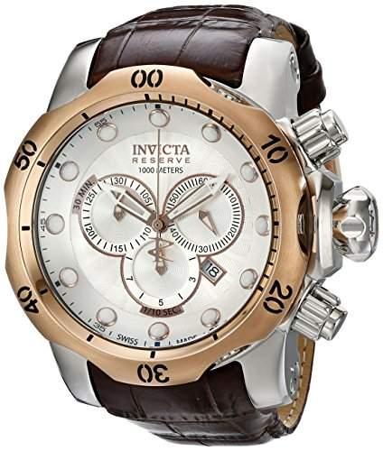 Invicta Herren-Armbanduhr Chronograph Edelstahl weiss 359