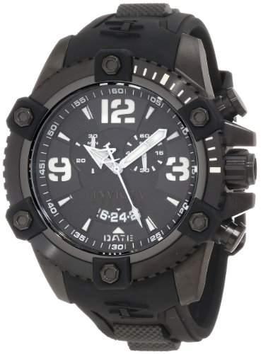 Invicta Herren-Armbanduhr XL Chronograph Quarz Kautschuk 11177
