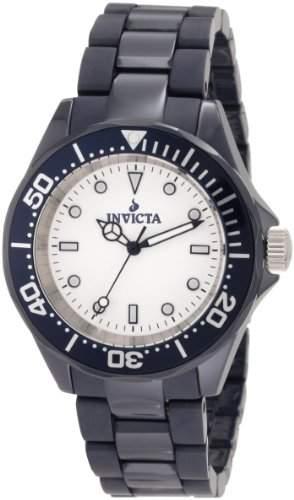 Invicta Herren-Armbanduhr 41mm Armband Keramik Schwarz Gehäuse Edelstahl Schweizer Quarz Analog 1183