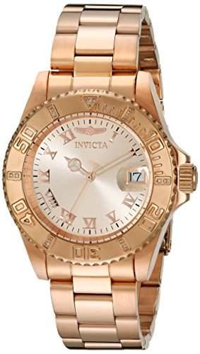Invicta Damen-Armbanduhr Analog Quarz Edelstahl beschichtet 12821
