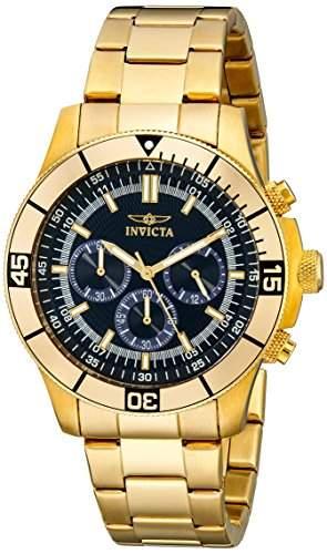 Invicta Herren-Armbanduhr XL Chronograph Quarz Edelstahl beschichtet 12844