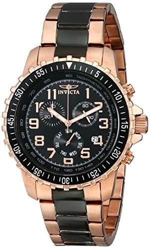 Invicta Herren-Armbanduhr Specialty Chronograph edelstahl Rotgold 1327