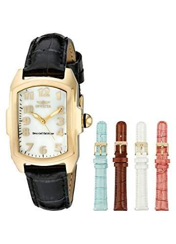 Invicta Damen-Armbanduhr XS Analog Quarz Leder 13834