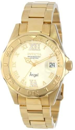 Invicta Damen-Armbanduhr Analog Quarz Edelstahl beschichtet 14397