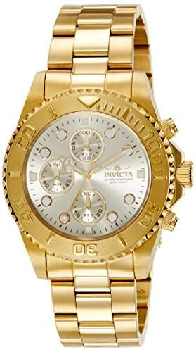 Invicta Unisex-Armbanduhr Chronograph Quarz Edelstahl beschichtet 1774