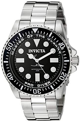 Invicta Mens 20119 Pro Diver Analog Display Swiss Quartz Silver Watch