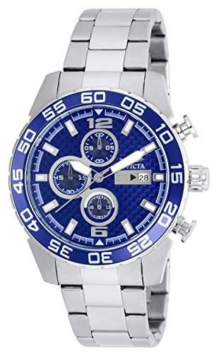 Invicta Herren-Armbanduhr Chronograph edelstahl Silber 21376