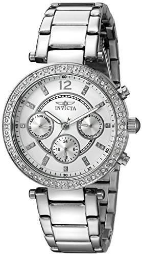 Invicta Damen-Armbanduhr Chronograph edelstahl Silber 21386