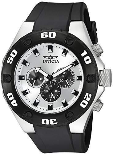 Invicta Herren-Armbanduhr Chronograph Kunststoff Schwarz 21403