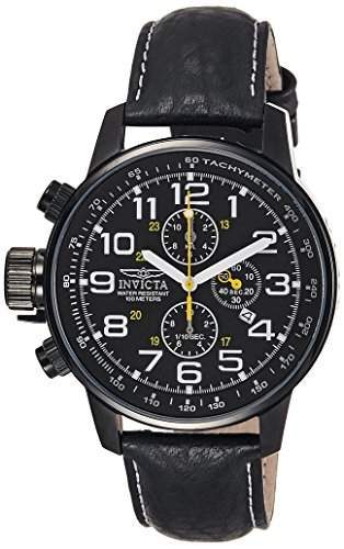 Invicta Herren-Armbanduhr XL Chronograph Quarz Leder 3332