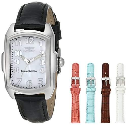 Invicta Damen-Armbanduhr XS Analog Quarz Leder 5168