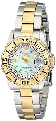 Invicta Damen-Armbanduhr XS Analog Quarz Edelstahl beschichtet 6895