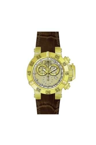 Invicta Damen-Armbanduhr Subaqua Chronograph Quarz Leder 80536