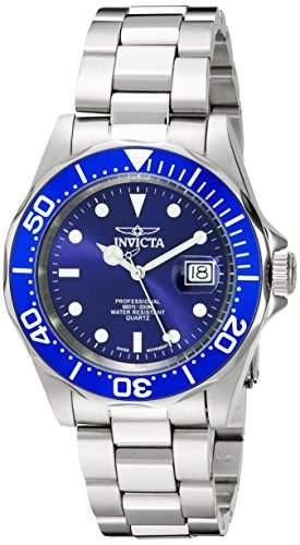 Edelstahl Pro Diver Quartz Blue Dial Bezel