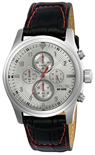 Invicta Aviator Herren Armbanduhr Chronograph Quarz Leder 22976